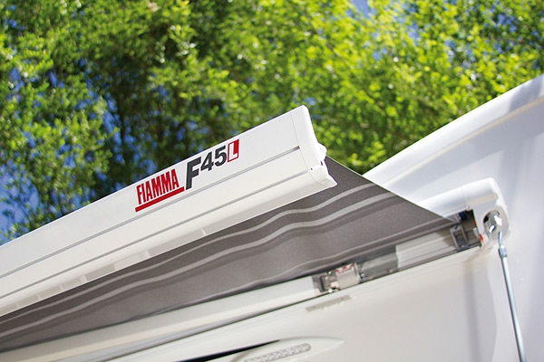 Fiamma F45 L 500 Deluxe Grey Awning. 06530A01T - Click to enlarge picture.