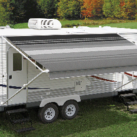 Carefree 18ft Black & Gray Dune Roll Out Awning (no Arms). FD188D00