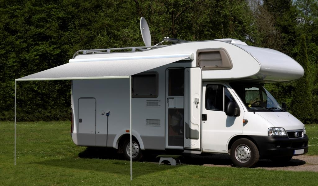 Carefree Freedom 4.0M Silver Shale Fade 12V Box Awning. 351576D25TM - Click to enlarge picture.
