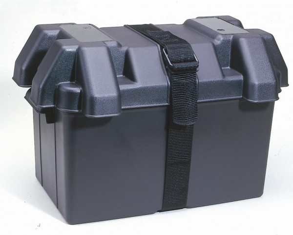 Large Battery Box C/W Strap 328 X 188 X 195H. BB32 - Click to enlarge picture.