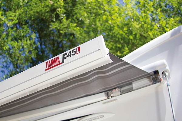 Fiamma F45 L 500 Royal Blue Awning. 06530A01N - Click to enlarge picture.