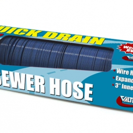 "Valterra 3""x10' Quick Drain Sewer Hose Blue Boxed. D04-0045"
