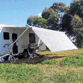 Coast V2 Sunscreen W3720mmxH1800mm T/S 13' Cf Awning.