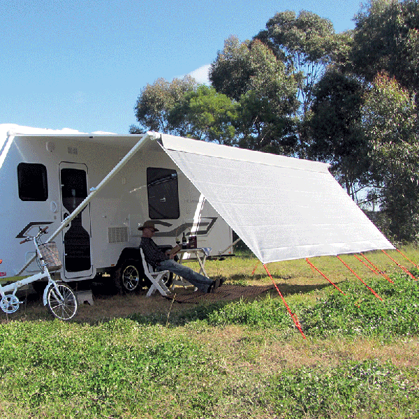 Coast V2 Sunscreen W3720mmxH1800mm T/S 13' Cf Awning. - Click to enlarge picture.