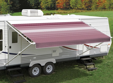 Carefree 14ft Bordeaux Dune Roll Out Awning (no Arms). FF148B00HM - Click to enlarge picture.