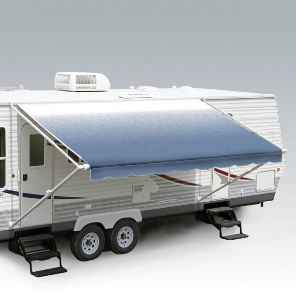 Carefree 18ft Blue Shale Fade Roll Out Awning (no Arms). FF186C00 - Click to enlarge picture.