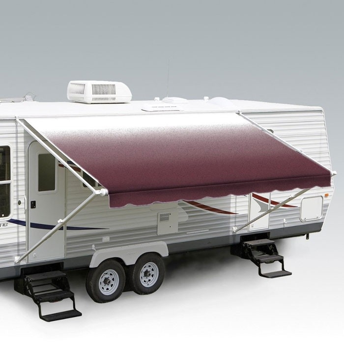 Carefree 14ft Burgundy Shale Fade Roll Out Awning (no Arms). FF146A00HM - Click to enlarge picture.