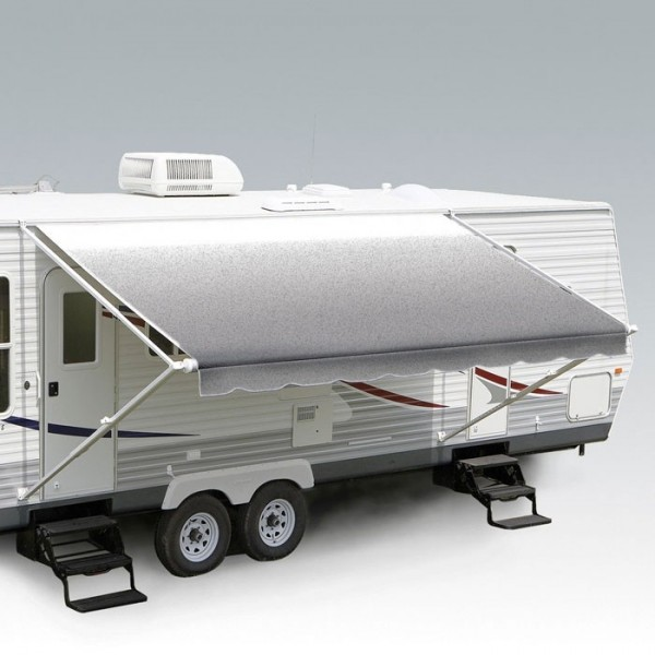 Carefree 13ft Silver Shale Fade Roll Out Awning (no Arms). FF136D00HM - Click to enlarge picture.